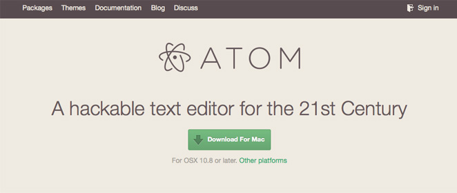 GitHub エディタ Atomを入れてみた。