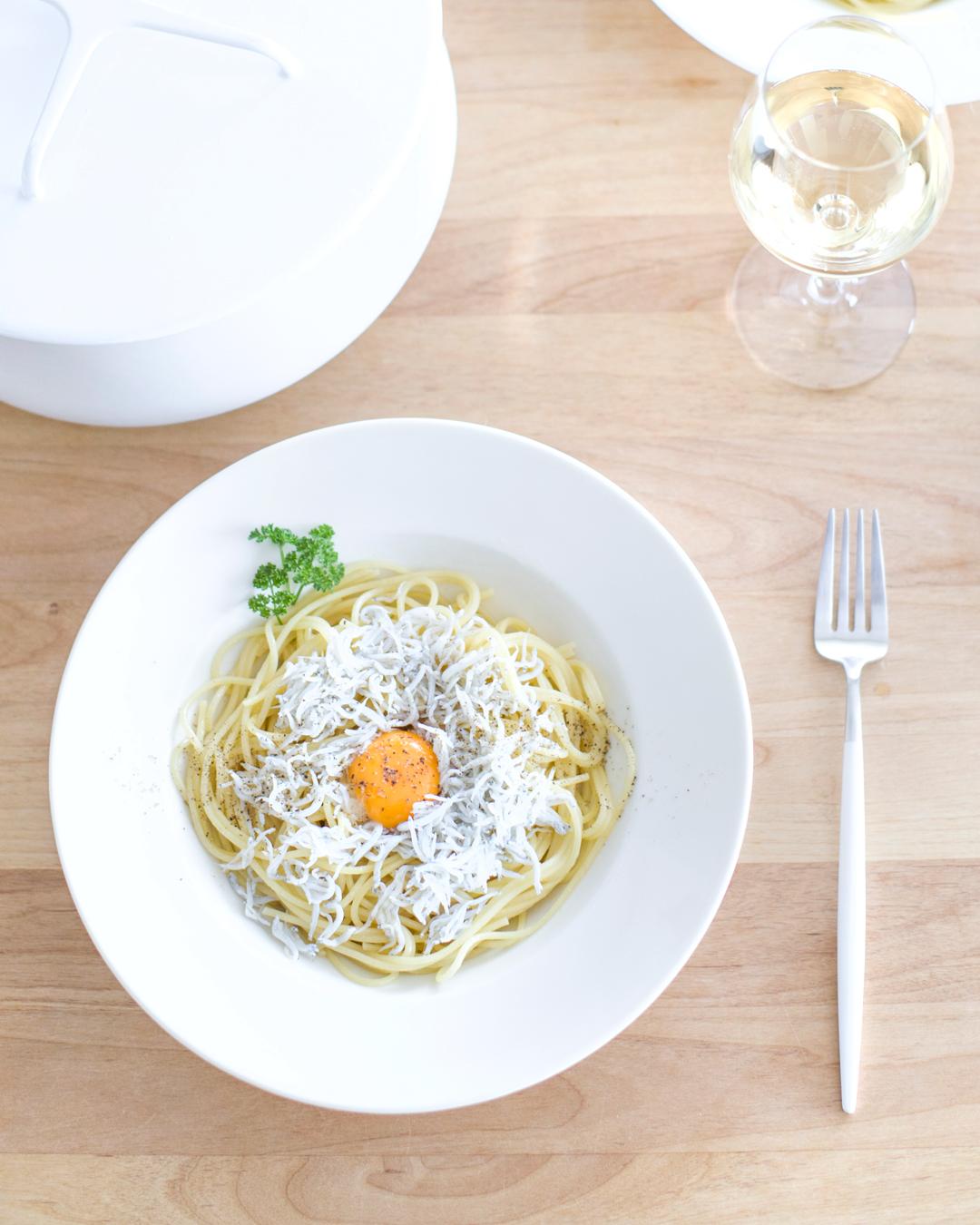『しらすと卵のスパゲティ』
