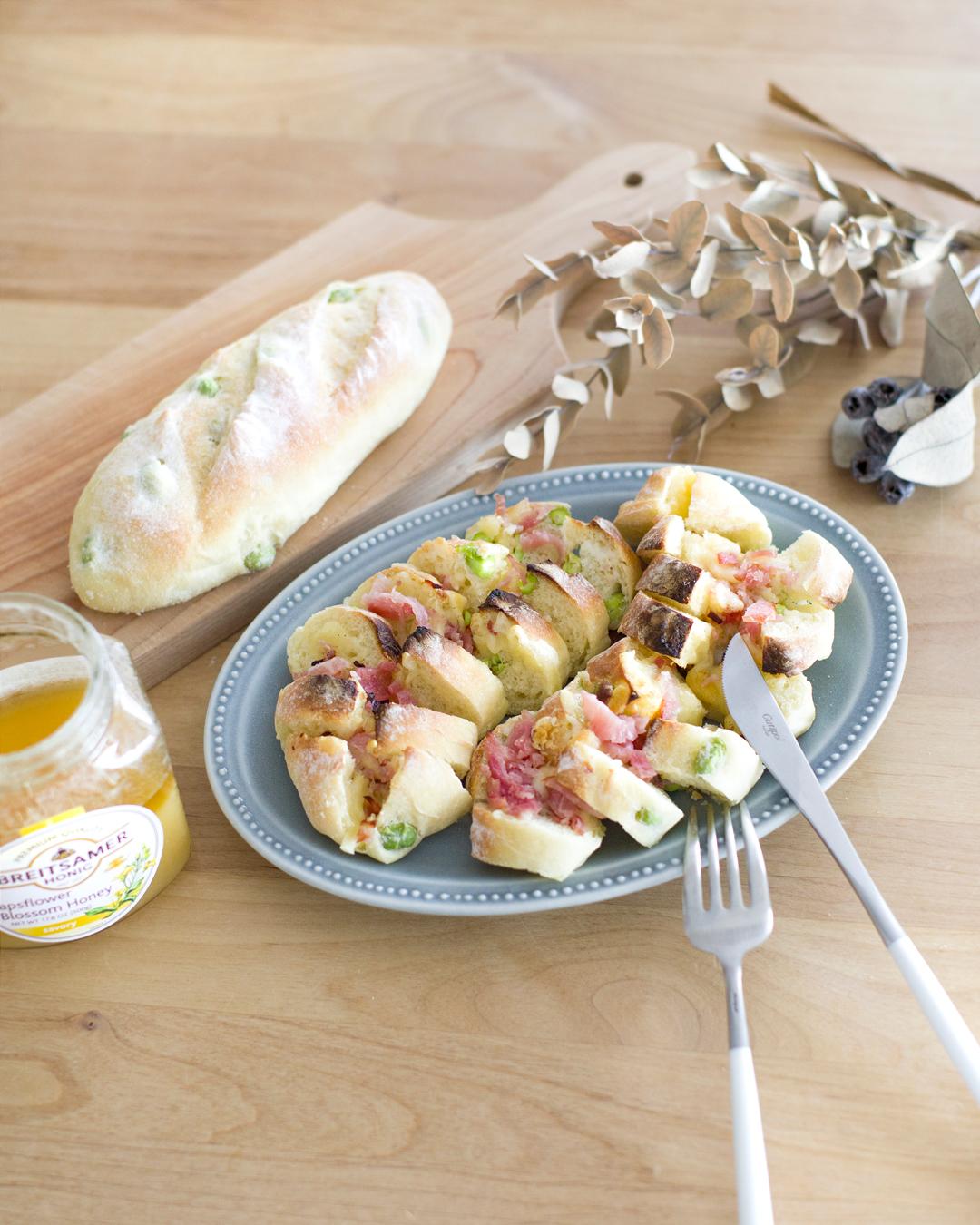 『枝豆フランスの生ハムチーズトースト』