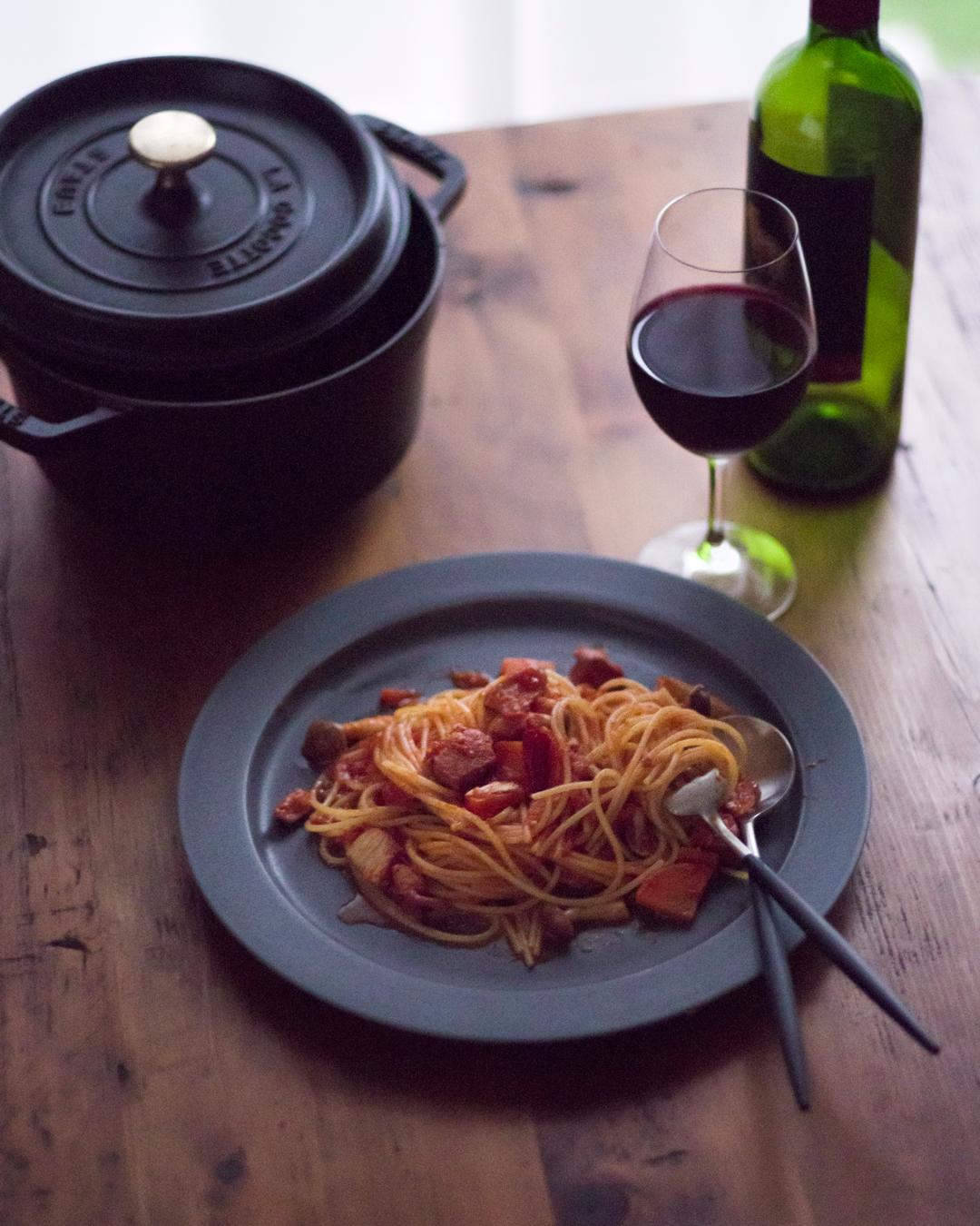 『トマトと鶏肉のスパゲッティ』