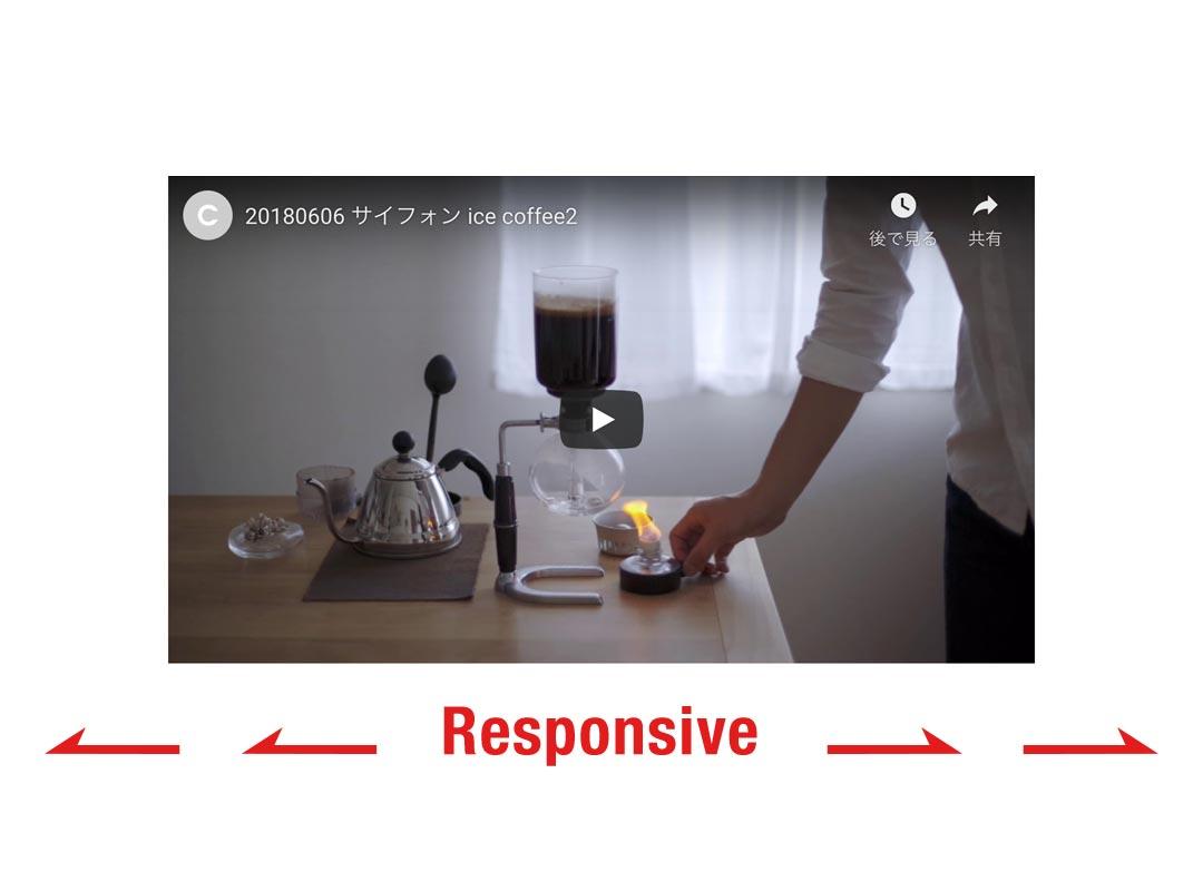 webページに レスポンシブ対応の Youtube動画を貼り付ける CSSコード