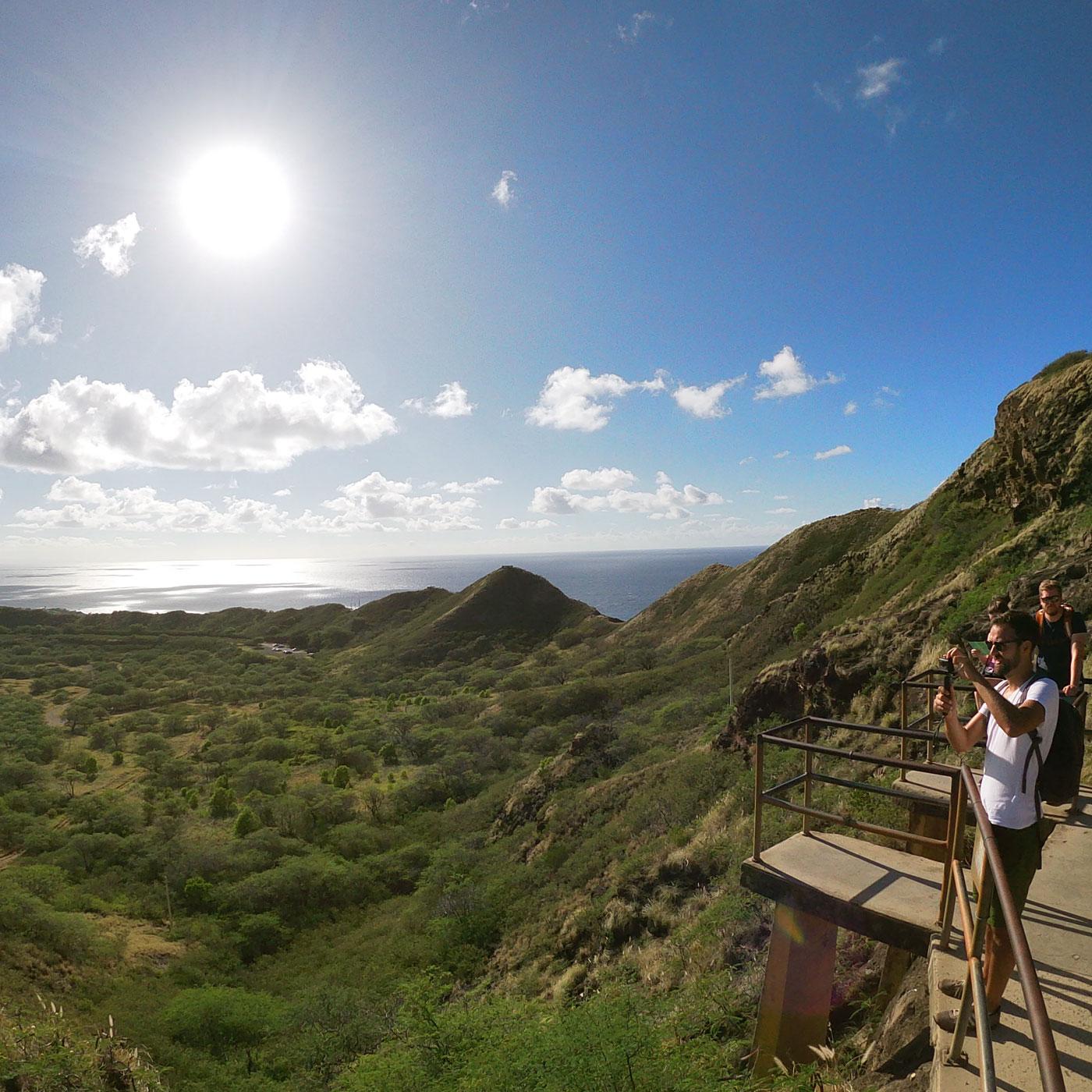 ハワイ旅行 10月 3日目 ダイヤモンドヘッド ワイキキビーチ