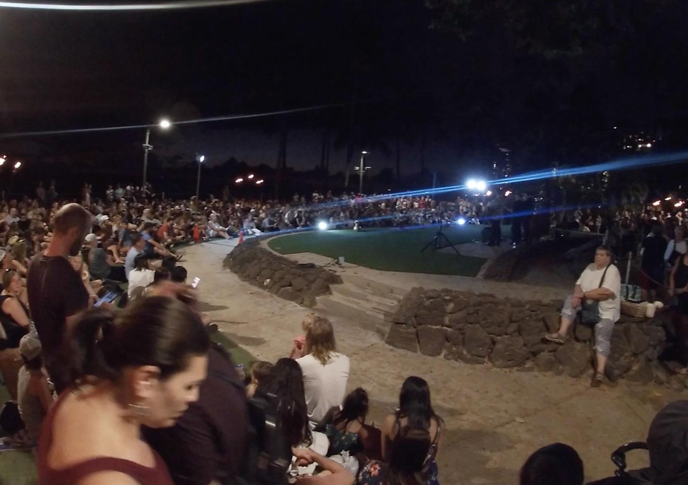 クヒオビーチ フラダンスショー